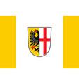 flag of memmingen in swabia in bavaria germany vector image