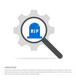 halloween rip grave stone icon search glass with vector image