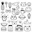 hand drawn doodle lovely set for kid vector image vector image