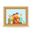 Happy Family Having Good Time Together Framed vector image vector image