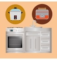 Home Kitchen icons design vector image