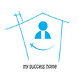 home my success and victory in and isolated vector image vector image