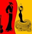 image of flamenko vector image
