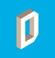 isometric letter d vector image vector image