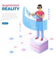 isometric virtual augmented reality vector image vector image