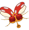 Ladybird with red eyes Cartoon vector image