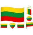 lithuanian national flag in vector image vector image