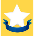 Logo design with star and blue ribbon vector image vector image