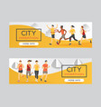 marathon runners race group vector image vector image
