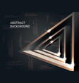 metal triangles sparkle on the background vector image