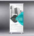 modern trendy standee roll up banner design vector image vector image