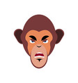 monkey angry emoji marmoset aggressive emotion vector image vector image