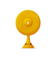 music award gold record reward isolated icon vector image vector image