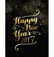 New Year 2017 gold lettering card design vector image vector image