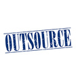 Outsource blue grunge vintage stamp isolated on