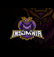 owl mascot sport logo design vector image vector image