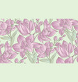 pastel colors orchid floral seamless pattern vector image vector image