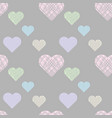 pastel seamless pattern with hatching hearts vector image vector image