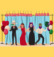photo booth party composition vector image vector image