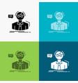 professor student scientist teacher school icon vector image