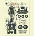retro set of design elements for a coffee house vector image vector image