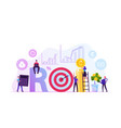 return on investment roi market and finance vector image vector image