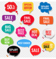 sale labels with isolated transparent background vector image