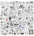 Science doodles vector image vector image