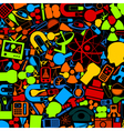 science wallpaper vector image vector image