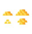 set golden bars vector image vector image