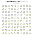 set line icons medical education vector image vector image