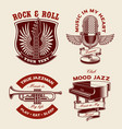 set music-themed vector image vector image