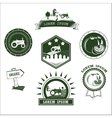 Set of retro vintage farm fresh labels badges and vector image vector image