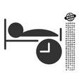 Sleep time icon with professional bonus vector image