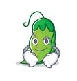 smirking peas character cartoon style vector image vector image