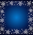 snow border frost frame christmas texture vector image