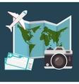 summer travel set isolated icons
