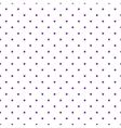 Tile pattern with violet polka dots on white vector image vector image