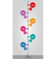 Timeline Infographics vertical vector image vector image