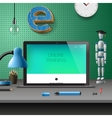 Training Development online education concept vector image vector image
