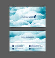two-sided horizontal flyer a4 format vector image vector image