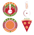 urban style pizza labels and elements set vector image