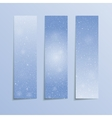 Vertical Blue Rectangle Banners Snow Winter vector image vector image