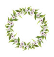 watercolor hand painted wreaths with vector image