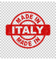 made in italy red stamp on isolated background vector image