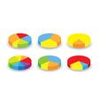 round graphs vector image