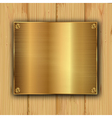 gold on a wood vector image