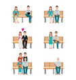 family generations development stages process vector image