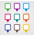 Set Of Colorful Rectangle Pins vector image