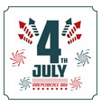 4th july independence day card invitation vector image